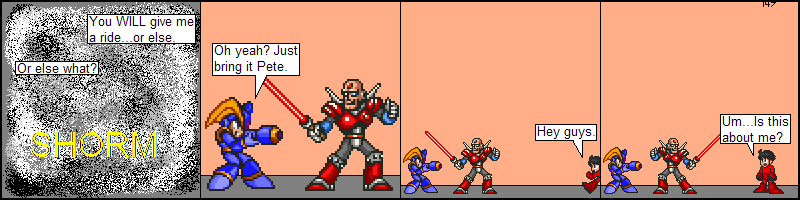 Bringing a plasma sword to a beam gun fight
